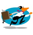 businessman rushing vector vector image