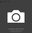 camera premium icon white on dark background vector image vector image