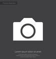 camera premium icon white on dark background vector image