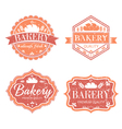 Collection of vintage retro bakery logo labels vector image vector image