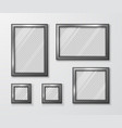 collection photo frames on gray wall vector image