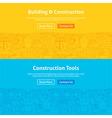 Construction Line Art Web Banners Set vector image