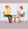 counseling psychologist vector image