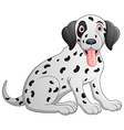 cute and adorable dalmatian dog sitting on floor vector image vector image