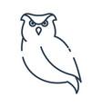 cute owl cartoon character halloween concept vector image vector image