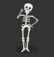 day dead skeleton talking phone mexican vector image vector image