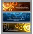Digital engineering banner set Teamwork or vector image vector image