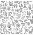 diving hand draw cartoon seamless pattern diving vector image