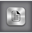 document icon - metal app button vector image vector image