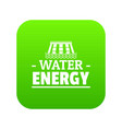 drop water energy icon green vector image