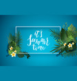 exotic nature frame vector image vector image