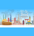explore the world with famous architectural landma vector image vector image
