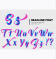 expressive decorative typography display type vector image vector image