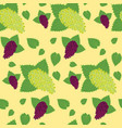 flat berry seamless pattern vector image vector image