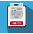 Flat Design With Tablet News Feed vector image vector image