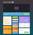 Flat User Interface Kit for web and mobile 3 vector image vector image