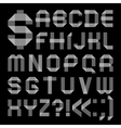 Font from scotch tape - Roman alphabet vector image