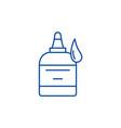 glue line icon concept glue flat symbol vector image