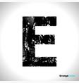 Grunge letter e black font sketch style symbol