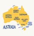 hand drawn stylized map australia travel