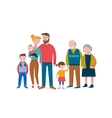 Happy family with speach bubbles vector image vector image