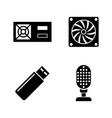 hardware simple related icons vector image