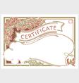 Horizontal certificate design template in vintage vector image vector image