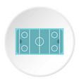 Ice hockey rink icon circle
