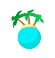 Island with palm trees icon cartoon style vector image vector image