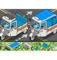 Isometric Italian Rickshaw in Front View vector image vector image