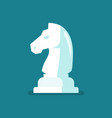 knight chess figure icon vector image