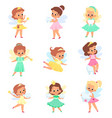 little tooth fairy kids sorceress characters vector image