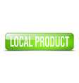 local product green square 3d realistic isolated vector image vector image