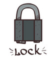 lock clipart color on a white background vector image vector image