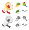megaphone whistle and other attributes of the vector image vector image