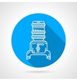 Modern water cooler blue round icon vector image vector image