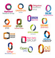 o letter corporate identity business icons vector image vector image