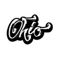 ohio sticker modern calligraphy hand lettering vector image