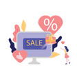 online shopping with credit vector image vector image