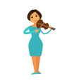 orchestra jazz band woman playing violin fiddle vector image vector image