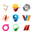 package of abstract corporate symbols vector image