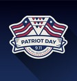 Patriot day badge logo design vector image vector image