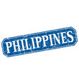 philippines blue square grunge retro style sign vector image vector image