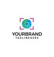 photography shoot logo design concept template vector image vector image