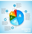 Pie chart web design infographic vector image