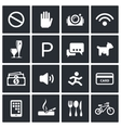 Prohibition icons set vector image vector image