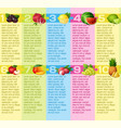 puzzle design layout about superfood vector image vector image