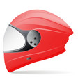 red motorcycle helmet side view isolated on a vector image vector image