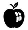 ripe apple icon simple black style vector image vector image