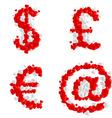 Romantic font vector image vector image